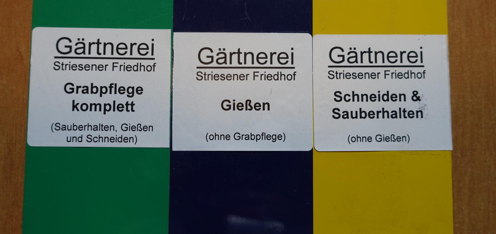 Möglichkeiten der Grabpflege / Gießen