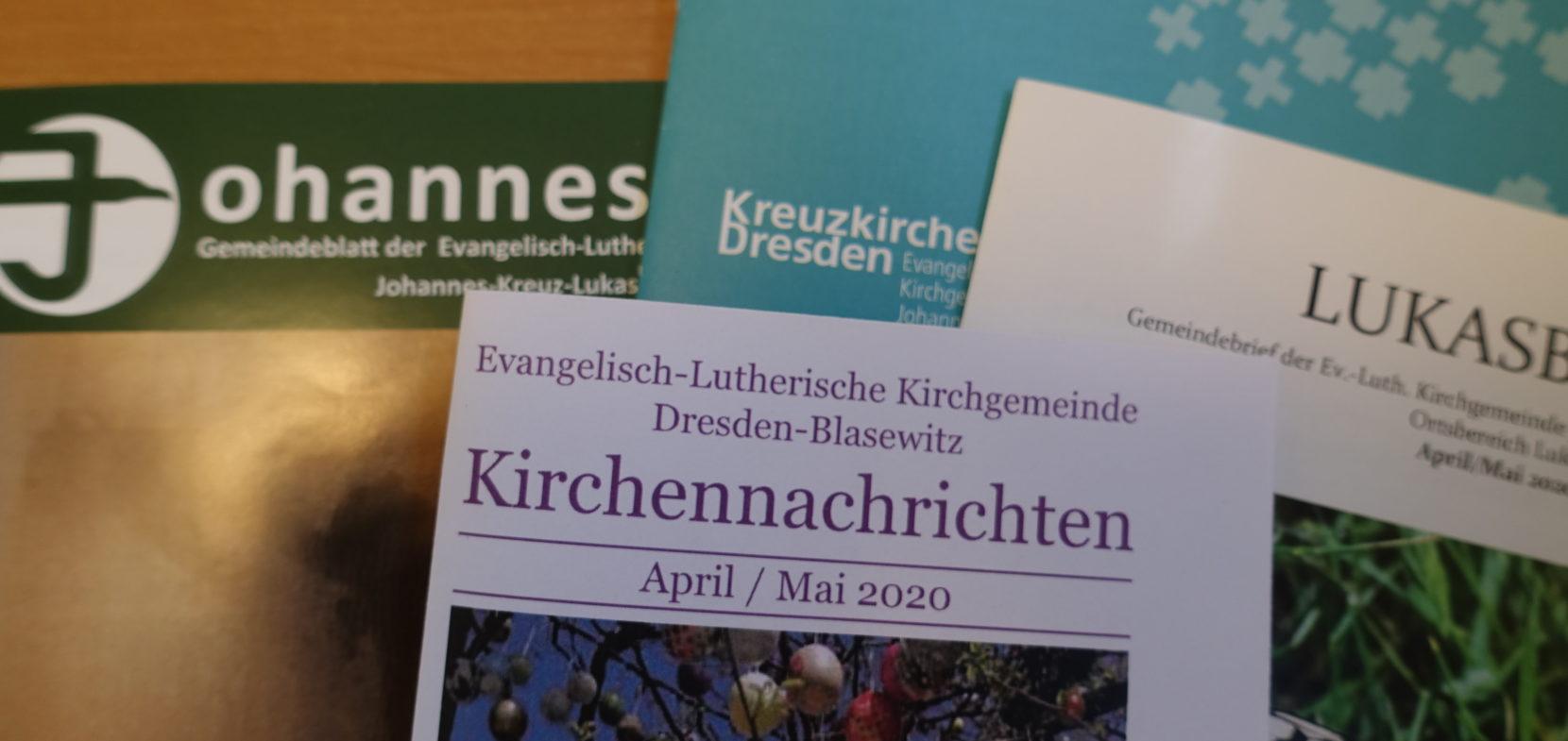Veröffentlichungen in den Kirchennachrichten